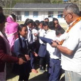 School uniform distribution program atShree Shitalpati Lower Secondary School
