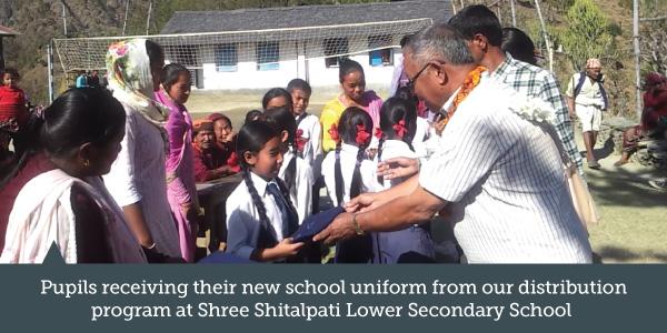 Gurkha Peace Foundation school uniform distribution program of Shree Shitalpati Lower Secondary School